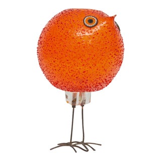 "Alessandro Pianon for Vistosi ""Pulcini"" Glass Bird Sculpture"
