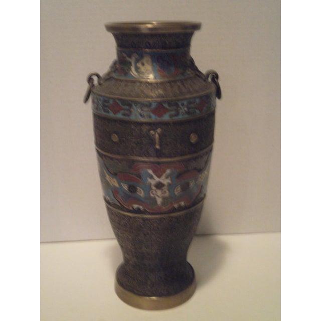 Large Antique Champleve Urn - Image 4 of 11