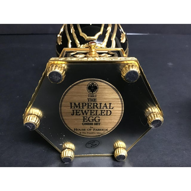 """Ceramic The Franklin Mint House of Faberge """"The Imperial Jeweled Egg Chess Set"""" For Sale - Image 7 of 8"""