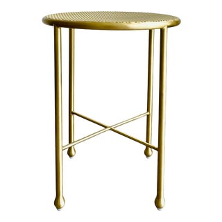 Sabin Brass Napa Side Table For Sale