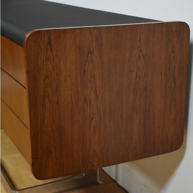 Ste-Marie Rosewood & Chrome Credenza For Sale - Image 5 of 11