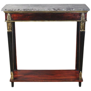 Italian Neoclassical Marble-Topped Console Table For Sale