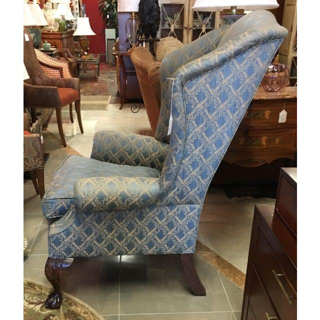 Chippendale George Smith Wingback Chair For Sale - Image 3 of 8