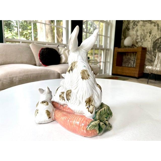 Ceramic Vintage Provencal Ceramic Bunny Statue For Sale - Image 7 of 13