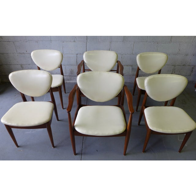 John Stuart Mid-Century John Stuart Dining Chairs - S/6 For Sale - Image 4 of 7