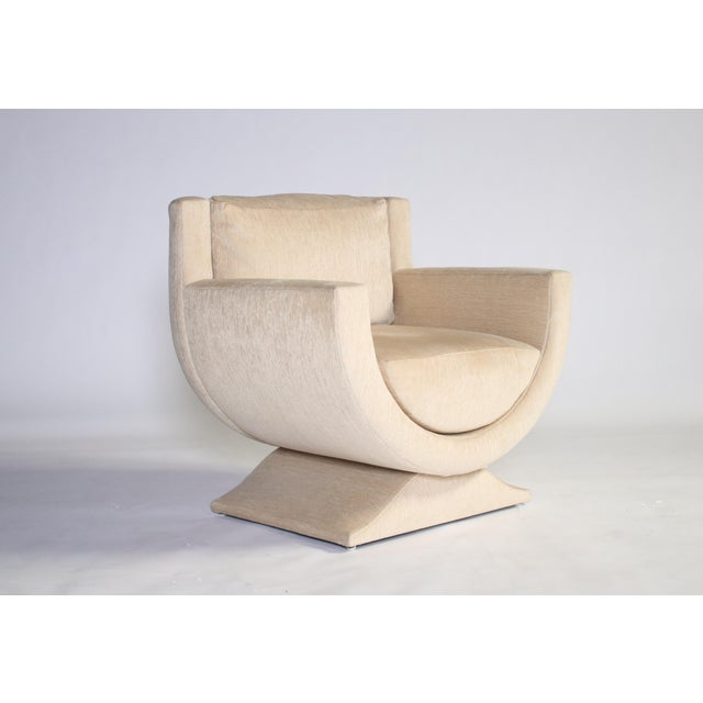 Tan Richard Himmel Upholstered Club Chair For Sale - Image 8 of 8
