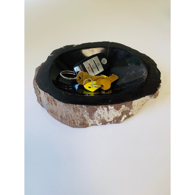 Wood Petrified Wood Bowl/Catchall For Sale - Image 7 of 8