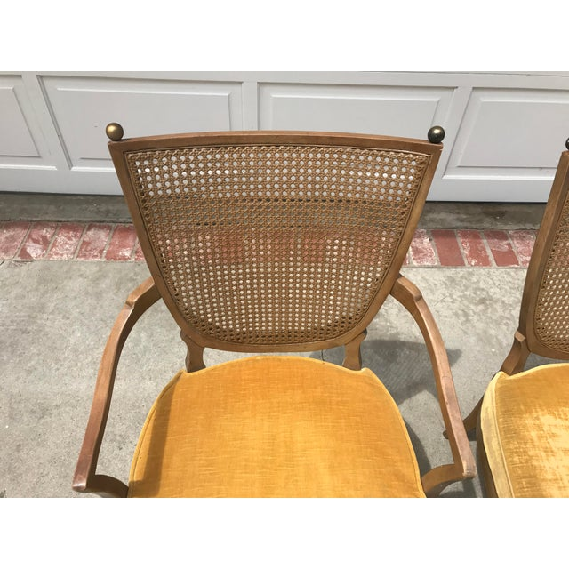 Vintage Caned Back Chairs - A Pair - Image 5 of 7