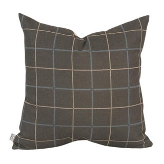 "Oxford Slate 20"" Square Down Pillow For Sale"