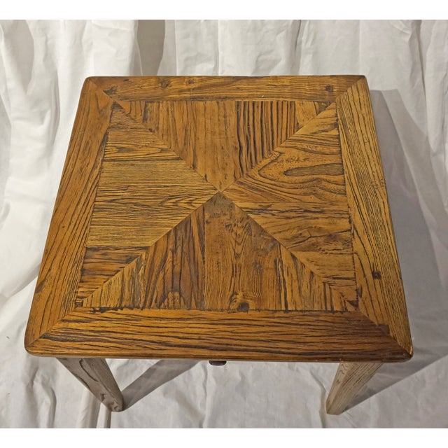 Reclaimed Wood Side Table - Image 5 of 5