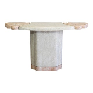 Vintage Tessellated Stone Console For Sale