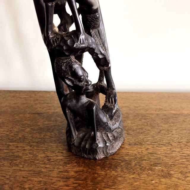 Kenyan Onyx Wood Figure Statue For Sale In Austin - Image 6 of 10