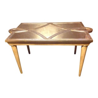 Regency Modern Geometric Mirrored Table For Sale
