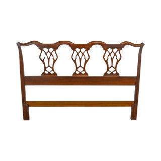 Chippendale Style Mahogany Full Size Headboard For Sale