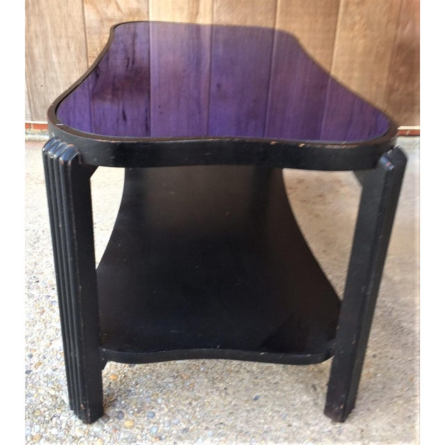 Art Deco Blue Glass Coffee Table