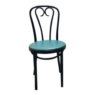 1950s Vintage Black Thonet Dining Chair For Sale