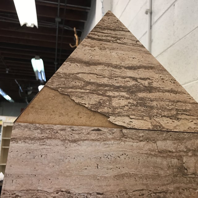 Monumental Faux Travertine Laminate Obelisks - A Pair For Sale In Richmond - Image 6 of 11