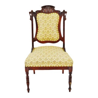 Victorian Upholstered Accent Chair For Sale