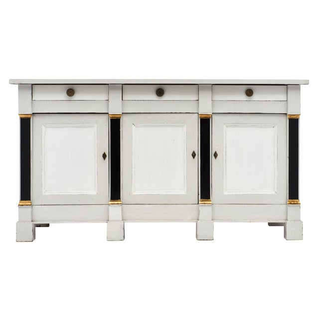 French Painted Directoire Style Buffet For Sale - Image 11 of 11