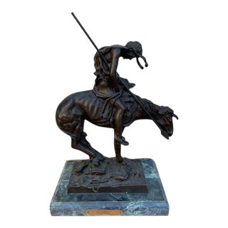 Vintage End of the Trail Bronze Statue by James Earle Fraser For Sale