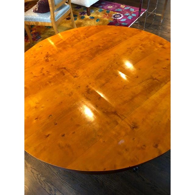 Antique Biedermeier Round Center Table For Sale - Image 9 of 13