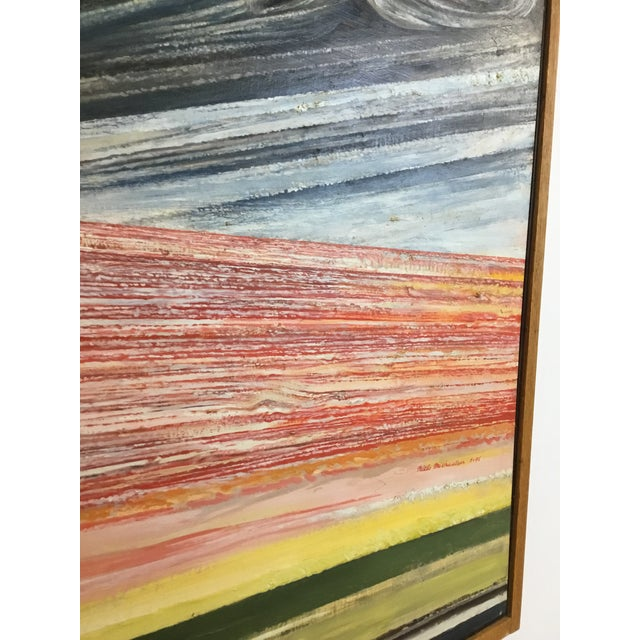 Mid-Century Modern 1990s Oil Painting by Niels Michaelsen For Sale - Image 3 of 9