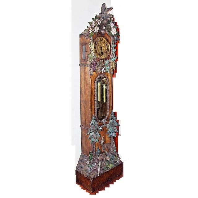 Black Forest Black Forest Grandfather Tall-Case Clock For Sale - Image 3 of 13