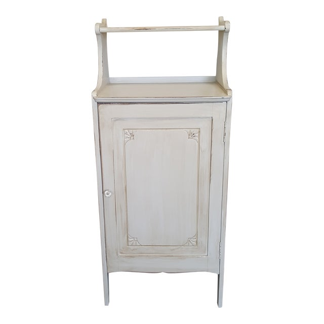 Vintage Painted Storage Cabinet For Sale