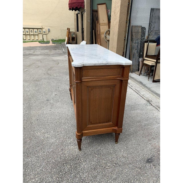 1910s French Louis XVI Antique Mahogany Sideboard or Buffet For Sale - Image 12 of 13
