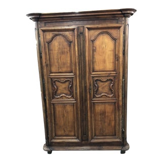 19th C. Antique Walnut Lyonnaise Armoire For Sale