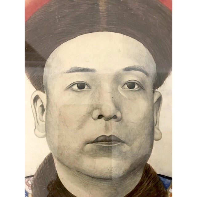 Early 20th Century Chinese Ancestor Painting of a High Ranking Gentleman For Sale - Image 5 of 10