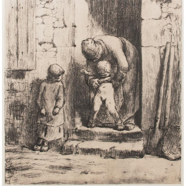 "Jean-François Millet, ""Maternal Duties"" 1959 Large Hungarian Print For Sale - Image 4 of 8"