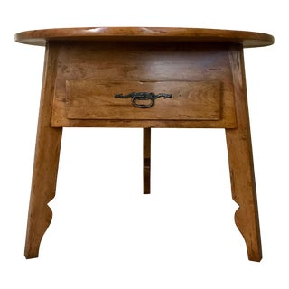 Round Cricket Table by Bausman For Sale