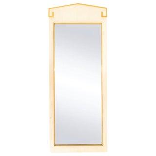 Tall Mirror w/ Gilded Greek Key Motif