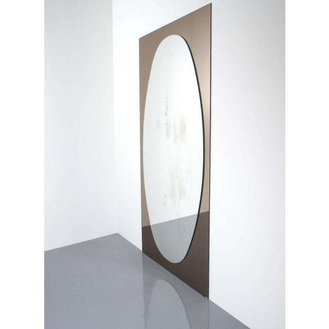 Full Length Artisan Vintage Duo Colored Glass Mirror by Cristal Arte, Torino For Sale - Image 6 of 6