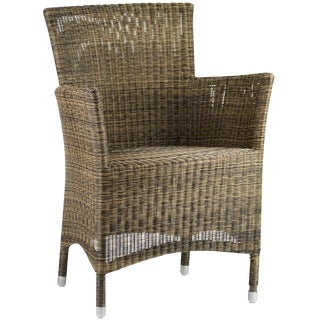 Contemporary Woven Fiber Patio Chair For Sale