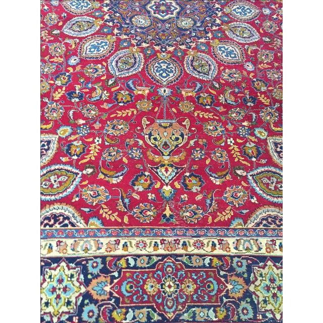 Vintage Persian Mashad Palace Rug - 9′9″ × 12′8″ - Image 8 of 10