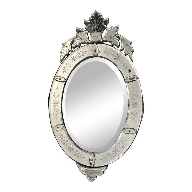 Large Venetian Antique Mirror From France For Sale