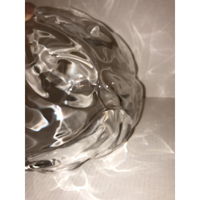 Contemporary 1980s Large Natura Center Piece by Holmegaard Glass for Royal Copenhagen For Sale - Image 3 of 8