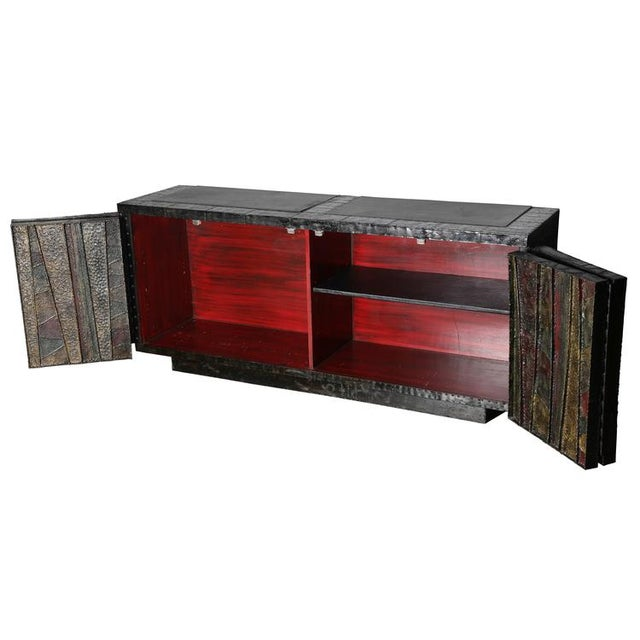 """EXCEPTIONAL 1962 PAUL EVANS """"DEEP RELIEF"""" CABINET For Sale - Image 5 of 10"""