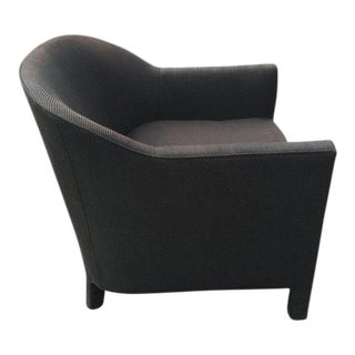 Black Barrel Back Club Chair For Sale