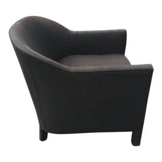 Three Legged Black Barrel Back Club Chair by Ward Bennett For Sale