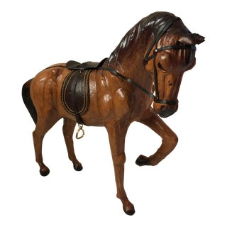 Vintage Leather Wrapped Horse