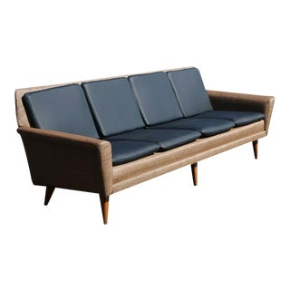 Swedish Dux Leather Sofa by Folke Ohlsson For Sale