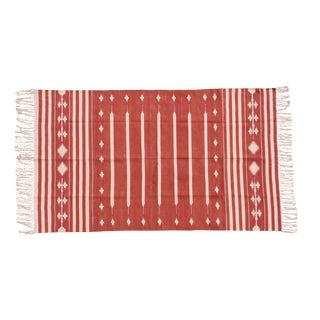 Marigold Rug, 8x10, Red & White For Sale