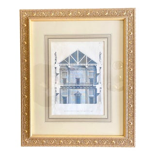 19th Century Gilt Framed Architectural Book Plate For Sale