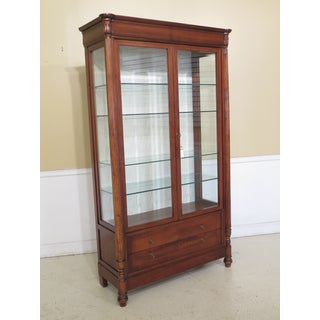 Italian Beveled Glass Lighted Display Cabinet Preview