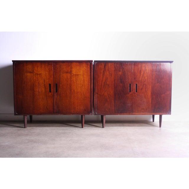 Arne Vodder Intense Matching Pair of Arne Vodder Cabinets For Sale - Image 4 of 12