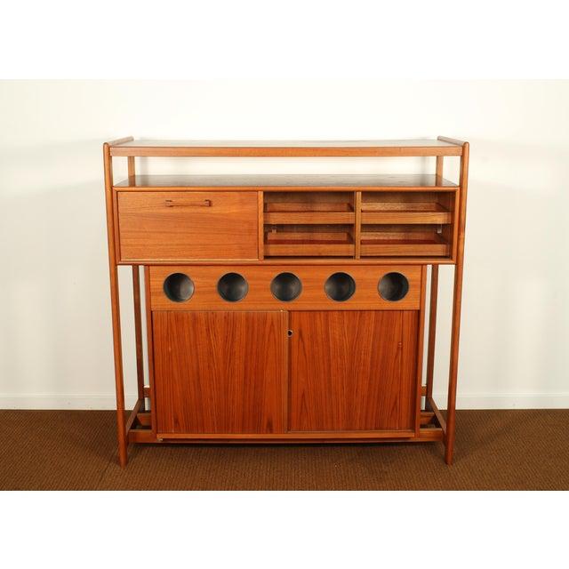 Dyrlund Danish Modern Teak Dry Bar For Sale - Image 10 of 10