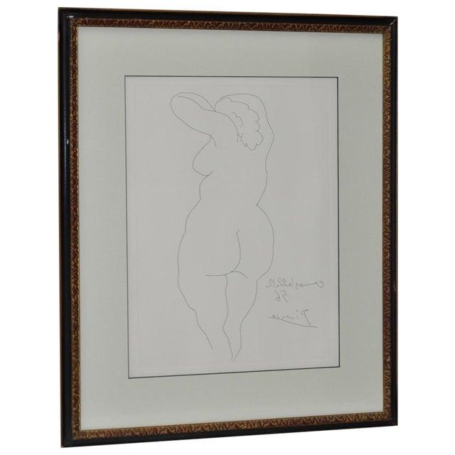 """Picasso Vintage 1956 """"Nu De Dos"""" Reverse Etching For Sale"""